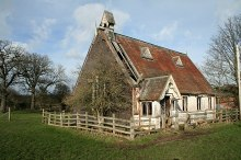 "Abenbury, ""tin tabernacle"" in the community of Abenbury, Denbighshire © Geoff Evans"